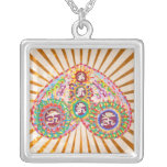 Om Mantra Chant Vibration from Heart Pendant