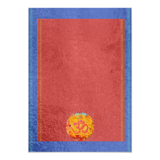 OM Mantra Dedication - Satin Silk Sparkle Surface Card