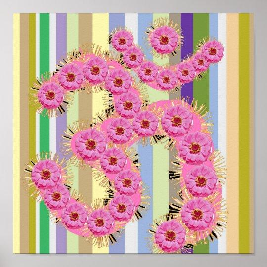 OM MANTRA  -  Dedication with Flower Garlands Poster