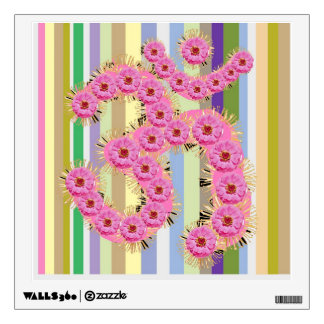 OM Mantra - Dedication with Flower Garlands Wall Sticker