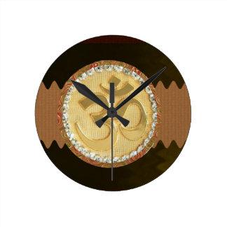 OM MANTRA Elegant Golden Emblem Greetings Gifts 99 Clock