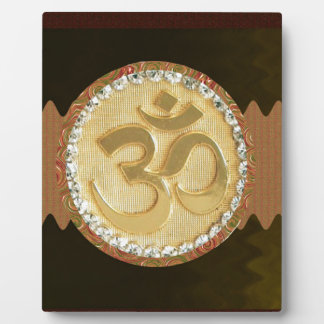 OM MANTRA Elegant Golden Emblem Greetings Gifts 99 Photo Plaques