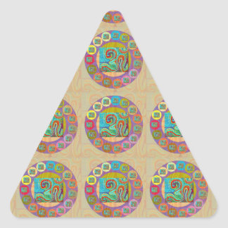 OM Mantra : Encouraging Display and Chanting Triangle Sticker