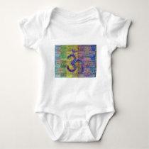 OM-Mantra Gayatri-Mantra Together Baby Bodysuit