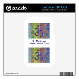 OM-Mantra Gayatri-Mantra Together Decals For iPod Touch 4G