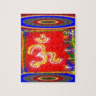 Om Mantra Glow Jigsaw Puzzle