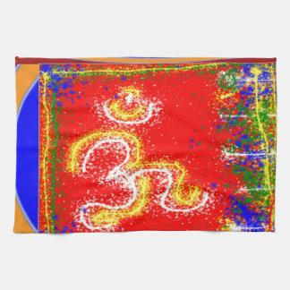Om Mantra Glow Kitchen Towel