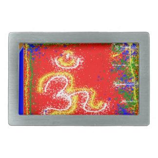 Om Mantra Glow Rectangular Belt Buckle