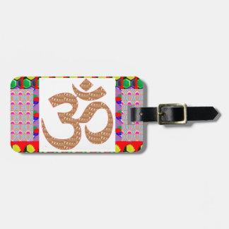 OM Mantra Gold INTENSE Devotion NVN189 NavinJOSHI Luggage Tag