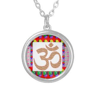 OM Mantra Gold INTENSE Devotion NVN189 NavinJOSHI Round Pendant Necklace
