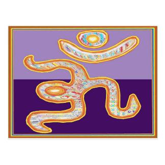 Om Mantra Gold on Havenly Blue Postcard