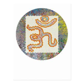 Om Mantra : Golden Wave Postcard