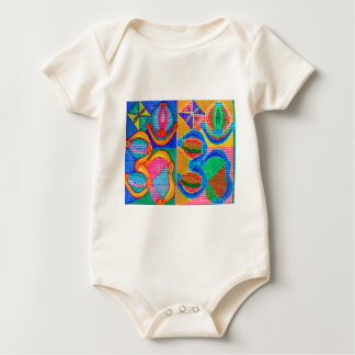 OM Mantra Matrix : Display n Give away use only Baby Bodysuit