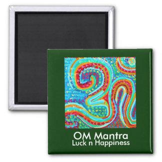 OM Mantra Om108 2 Inch Square Magnet