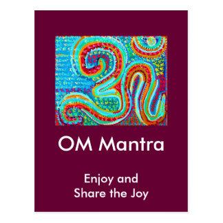 OM Mantra Om108 Postcard