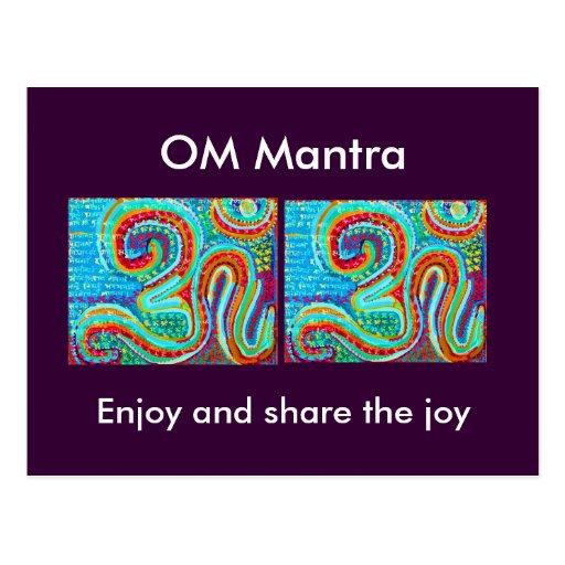OM Mantra Om108 Postcards