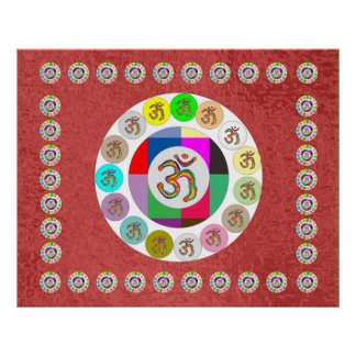 OM Mantra - Ommantra Acrylic on Silk Screen Poster