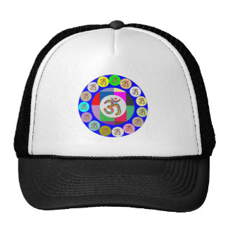 OM MANTRA OmMantra Chant Art Collection Hats