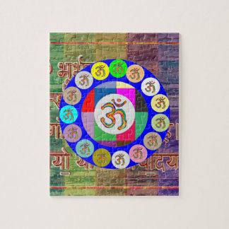 OM MANTRA OmMantra Chant Art Collection Jigsaw Puzzle