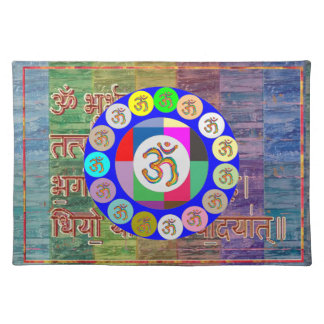 OM MANTRA OmMantra Chant Art Collection Cloth Placemat