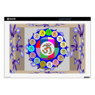 """OM MANTRA OmMantra Chant Art Collection Skin For 17"""" Laptop"""