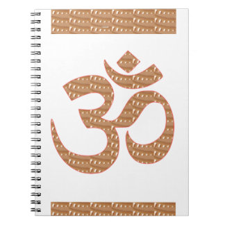 OM MANTRA OmMANTRA Chant Display Heal Peace Spiral Note Book
