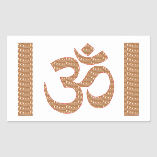OM MANTRA OmMANTRA Chant Display Heal Peace Rectangular Sticker