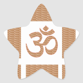 OM MANTRA OmMANTRA Chant Display Heal Peace Star Sticker