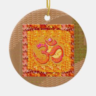 OM Mantra OmMANTRA Chant Yoga Meditation HEALTH Christmas Tree Ornaments