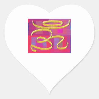 OM MANTRA -  OMmantra Heart Sticker