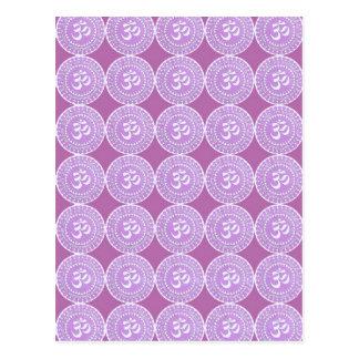 OM Mantra  : OMMANTRA  Purple Chant Postcard
