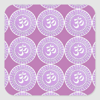 OM Mantra  : OMMANTRA  Purple Chant Square Sticker