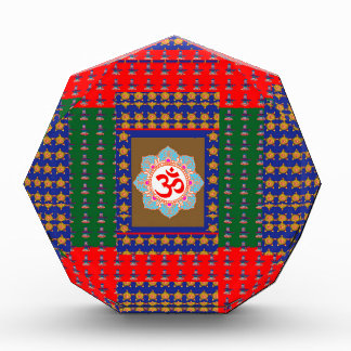 OM Mantra OmMantra ShivaLinga Hinduism Religion Acrylic Award