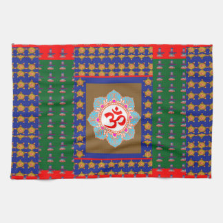 OM Mantra OmMantra ShivaLinga Hinduism Religion Hand Towel