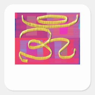 OM MANTRA -  OMmantra Square Sticker