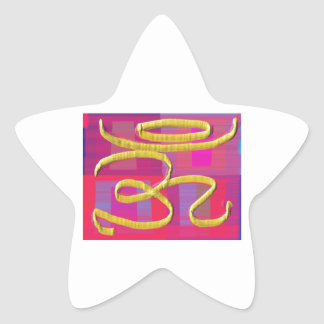 OM MANTRA -  OMmantra Star Sticker