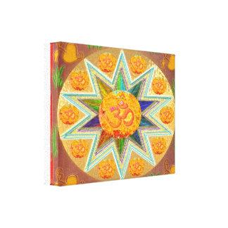 OM MANTRA STAR by Navin Joshi Canvas Print