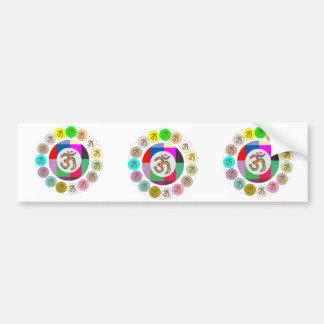 "OM Mantra Symbol : Chant n Meditate ""OM HARI OM"" Bumper Sticker"