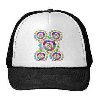 "OM Mantra Symbol : Chant n Meditate ""OM HARI OM"" Mesh Hat"