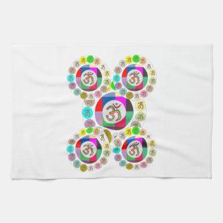 "OM Mantra Symbol : Chant n Meditate ""OM HARI OM"" Hand Towel"