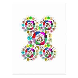 "OM Mantra Symbol : Chant n Meditate ""OM HARI OM"" Postcard"