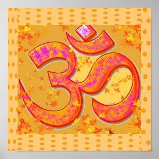 "OM Mantra Symbol : Chant n Meditate ""OM HARI OM"" Posters"