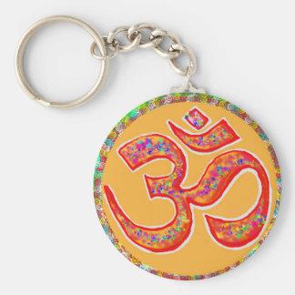OM MANTRA Symbol : TRUE HOLY ROBE Color Keychains