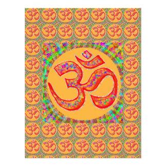 OM MANTRA Symbol : TRUE HOLY ROBE Color Letterhead Template