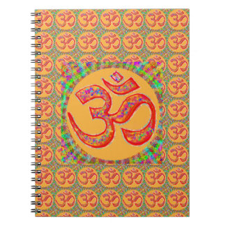 OM MANTRA Symbol : TRUE HOLY ROBE Color Spiral Note Books