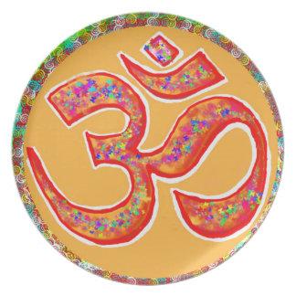 OM MANTRA Symbol : TRUE HOLY ROBE Color Dinner Plates