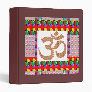 OM Mantra Yoga Meditation Holy NVN198 NavinJoshi 3 Ring Binder