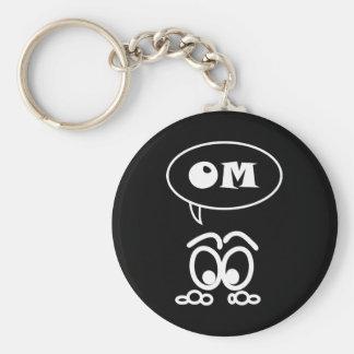 OM Meditation Funny Basic Keychain
