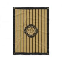Om Meditation Gold Fleece Blanket