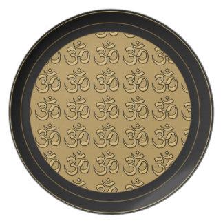 OM Meditation Plate Gold